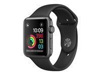 Apple Watch Series 1 42 mm rumgråt aluminium smart ur med sportsbånd