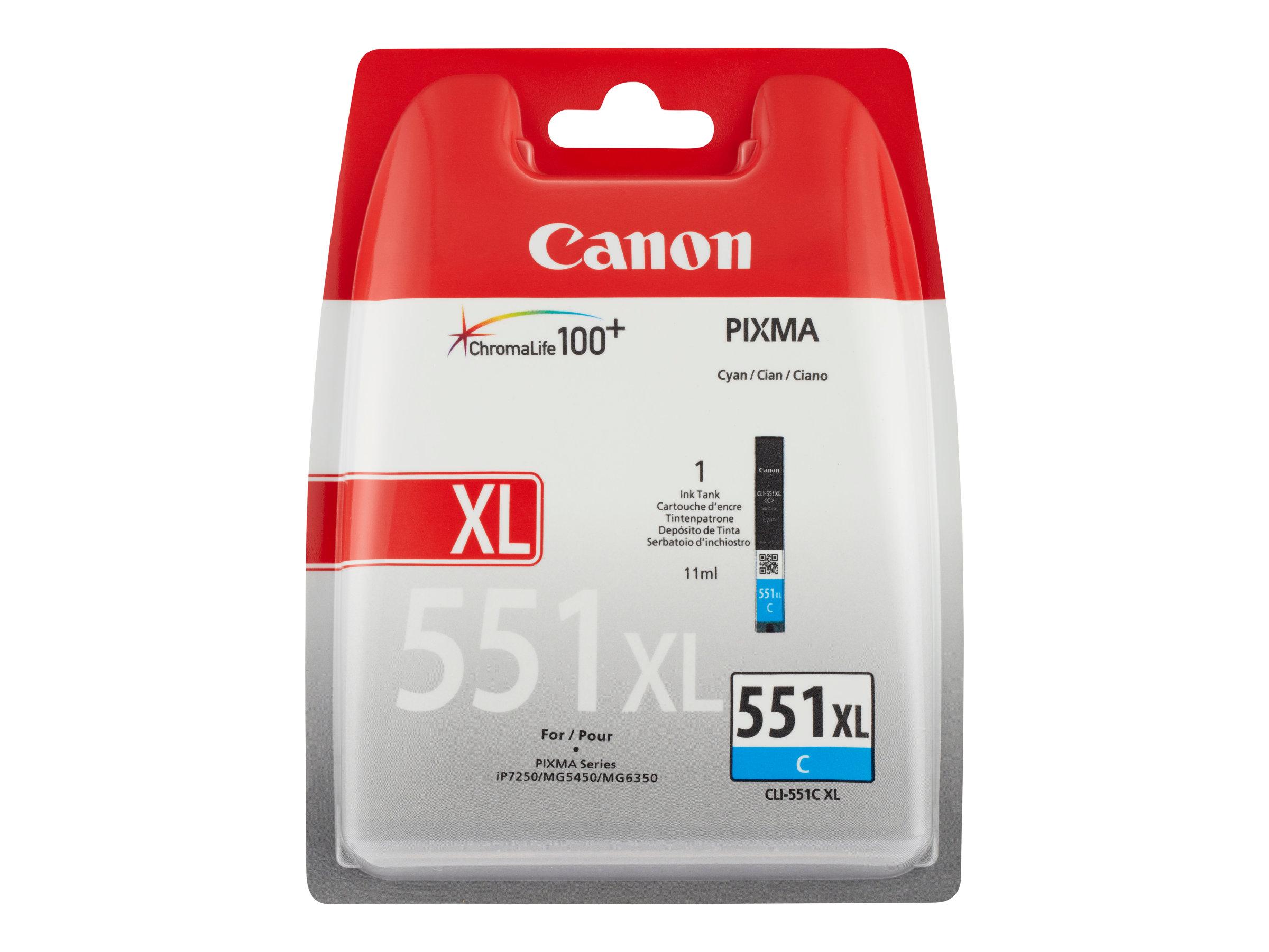Canon CLI-551C XL - à rendement élevé - cyan - originale - réservoir d'encre