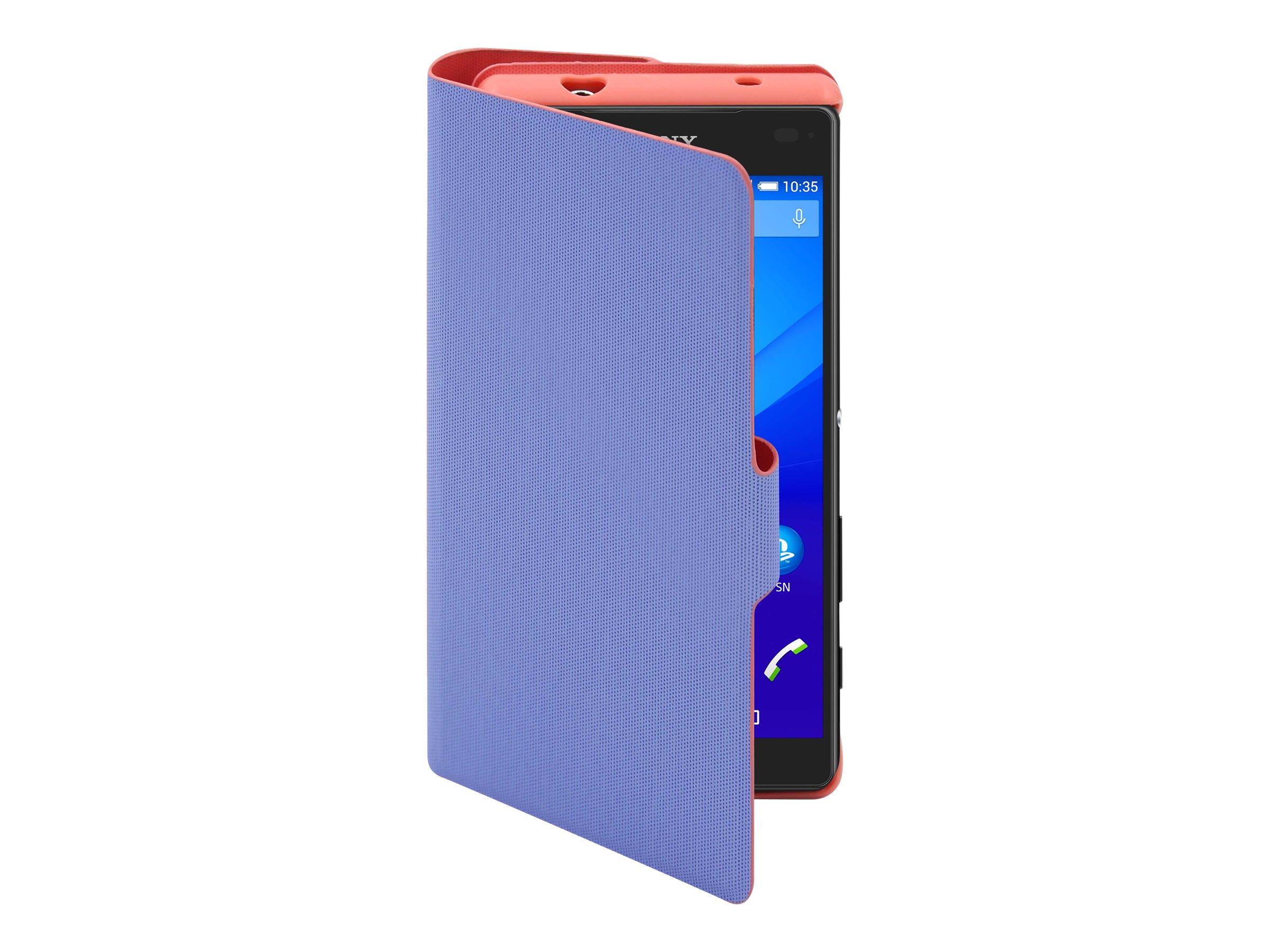 Muvit MFX Caméléon Folio - 2 Protections à rabat pour Sony XPERIA Z5 Compact - violet, mandarin