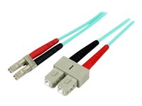 STARTECH - CABLE StarTech.com 10Gb Aqua MM 50/125 Duplex LSZH Fiber Patch Cable LCA50FBLCSC2