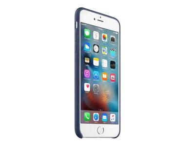 Apple - Zadní kryt pro mobilní telefon - kůže - půlnoční modř - pro iPhone 6 Plus, 6s Plus