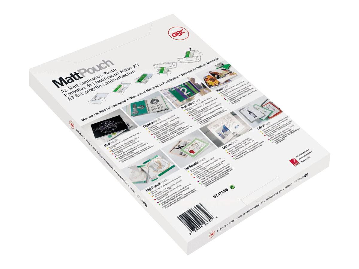 GBC Matt Pouch - pack de 100 - mat - pochettes plastifiées