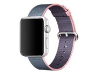 Apple 42mm Woven Nylon Band Urrem 145-215 mm midnatsblå, Lys pink
