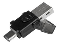 StarTech.com Lecteur de carte memoire microSD USB 3.0 - Adaptateur Micro SD vers USB-C / USB-A - Convertisseur microSD - lecteur de carte - USB 3.0