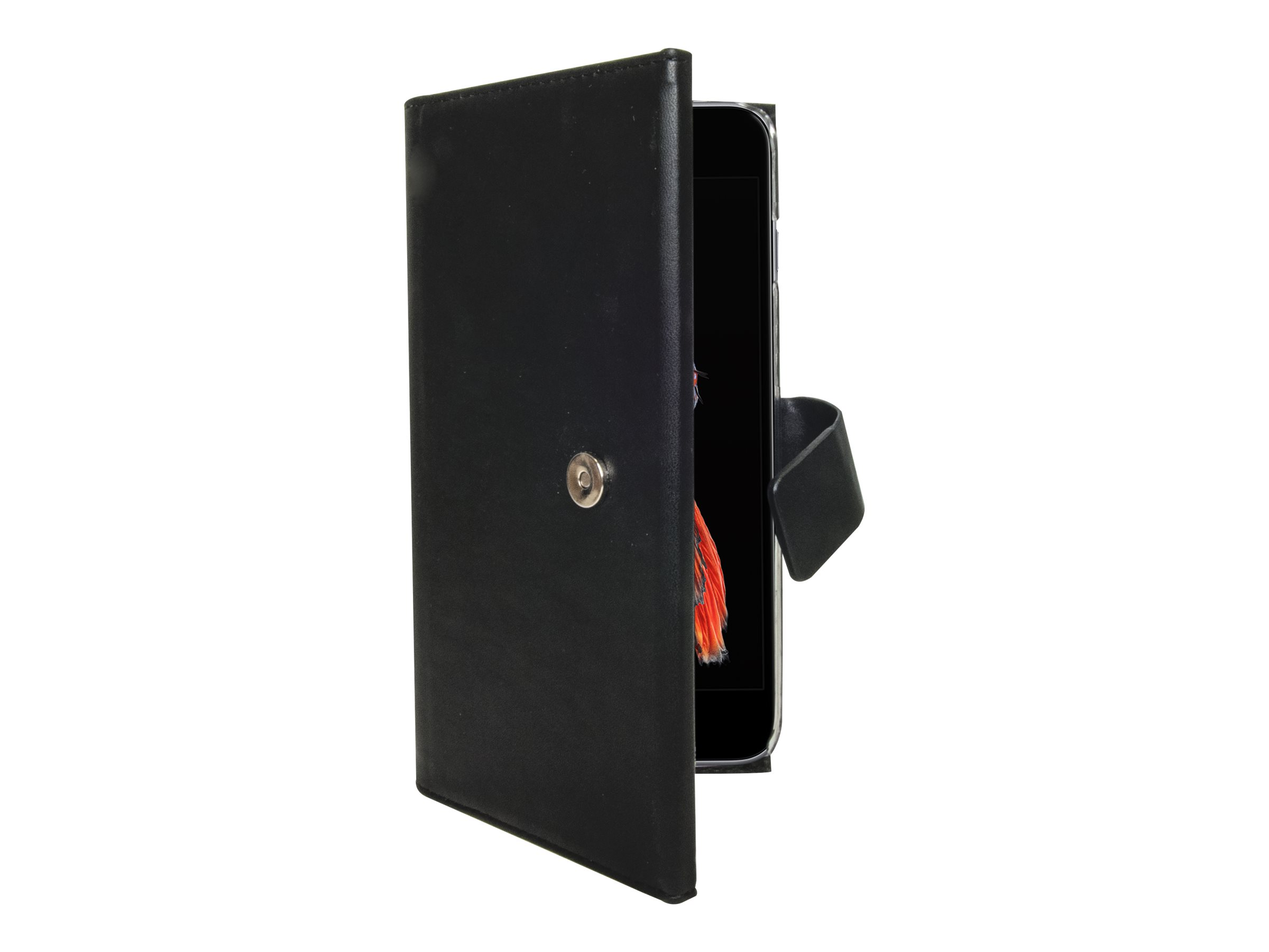 Muvit Magnet Wallet - Protection à rabat pour iPhone 6, 6s - noir