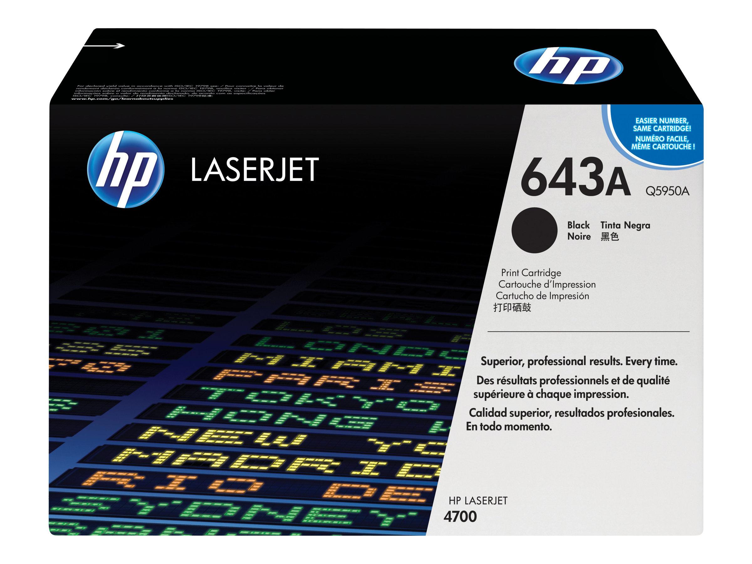HP 643A - noir - originale - LaserJet - cartouche de toner (Q5950A)