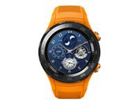Huawei Watch 2 Sports 45 mm dynamisk orange smart ur med sportsbånd