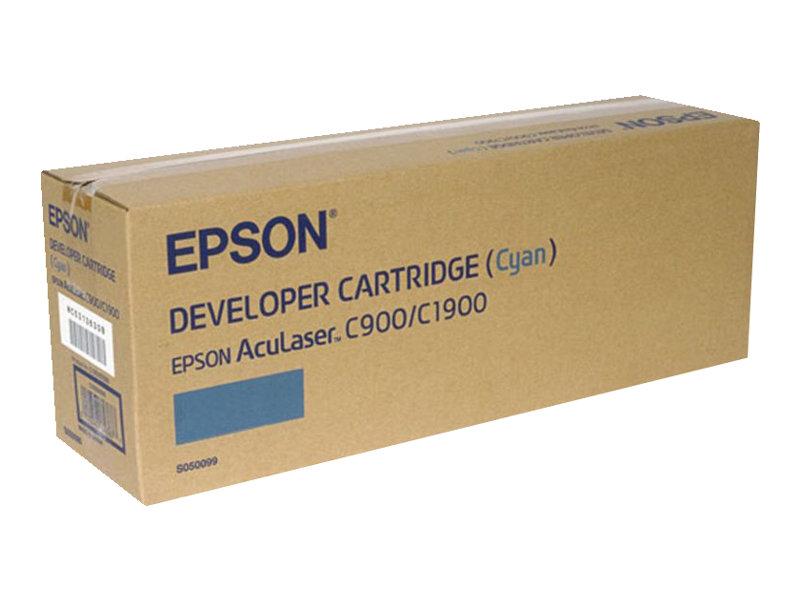 Epson S050099 - cyan - originale - cartouche de développeur
