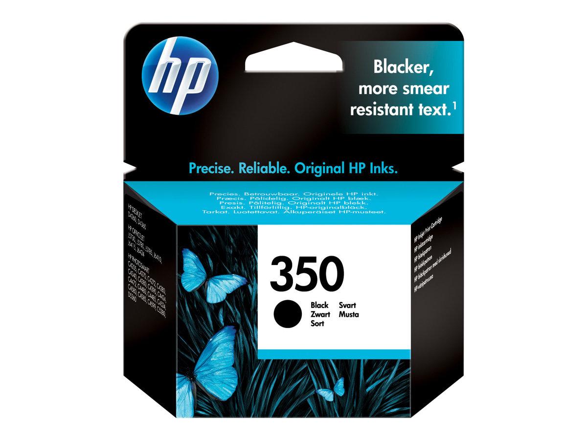 HP 350 - 4.5 ML - NEGRO - ORIGINAL - BLISTER - CAR