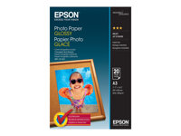 Epson - Brillant - A3 (297 x 420 mm) - 200 g/m² - 20 feuille(s) papier photo - pour Expression Premium XP-540, 640, 645, 900; SureColor SC-P405; WorkForce WF-2750, 2760, 3620