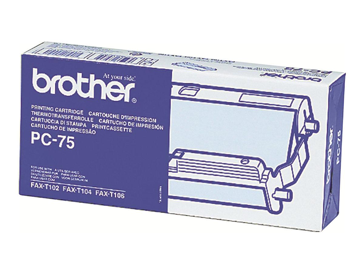 Brother PC75 - noir - cassette à ruban d'impression