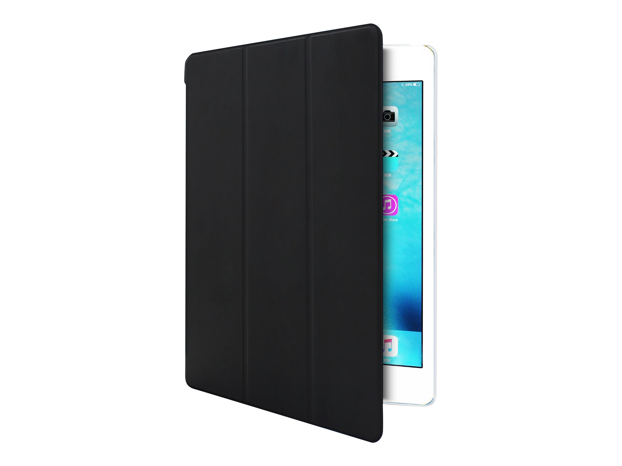 Muvit Smart Stand - Protection à rabat pour tablette pour iPadmini 4 - noir