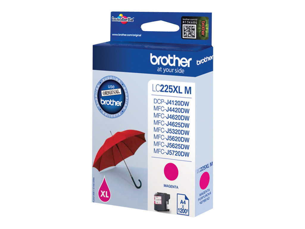 Brother LC225XLM - magenta - original - cartouche d'encre