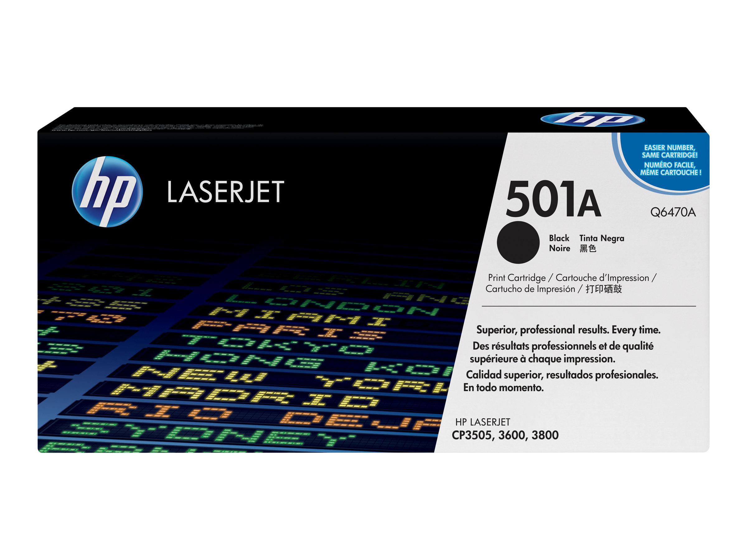 HP 501A - noir - originale - LaserJet - cartouche de toner (Q6470A)