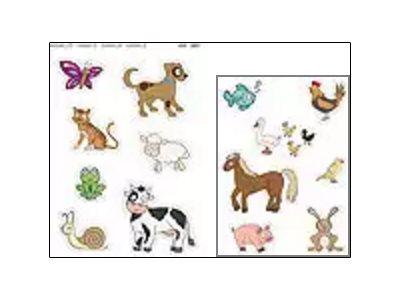 APLI kids Maxi - Adhésif décoratif - 28 gommettes - animaux