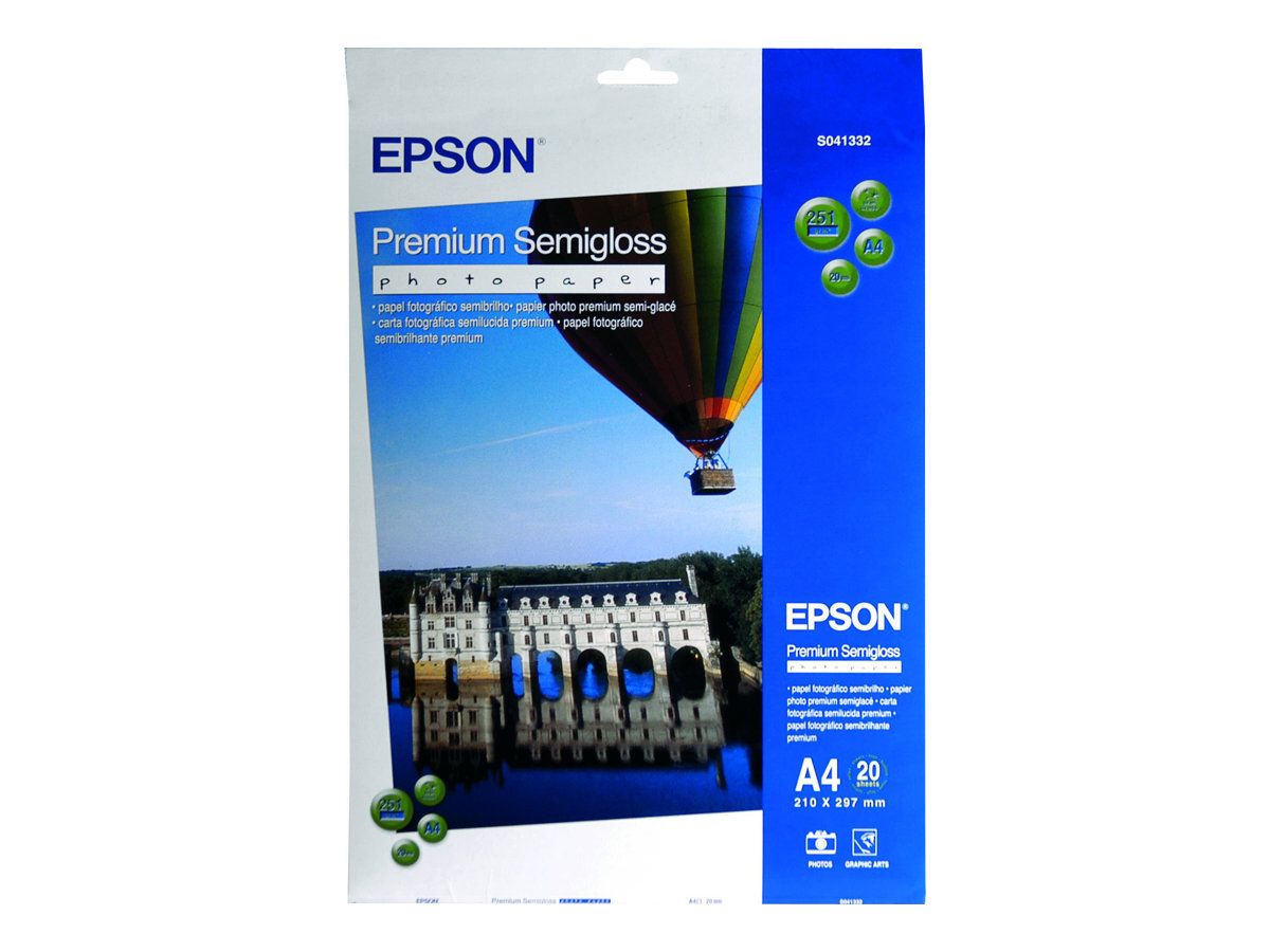 Epson Premium Semigloss Photo Paper - papier semi-brillant - 20 feuille(s)