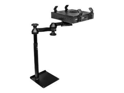 "RAM Universal Drill-Down Laptop Mount RAM-VBD-125-SW1 - Mounting kit ( swing arm, mounting pole, laptop shelf, drill-in base ) for notebook - steel - black powder coat - screen size: 10""-17"" - car bench seat, car bucket seats"