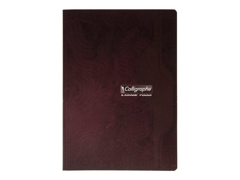 Calligraphe 7000 A4+ - Cahier - 24 x 32 cm -192 pages - papier blanc - Seyès - disponible dans différentes couleurs