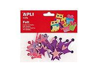 APLI kids - Forme à décorer - 12 feutrines - princesse