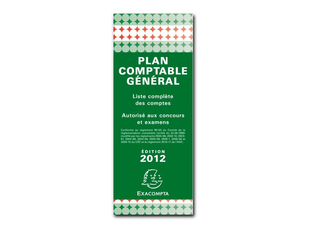 Exacompta - Plan comptable général - 85 x 180 mm - en accordéon
