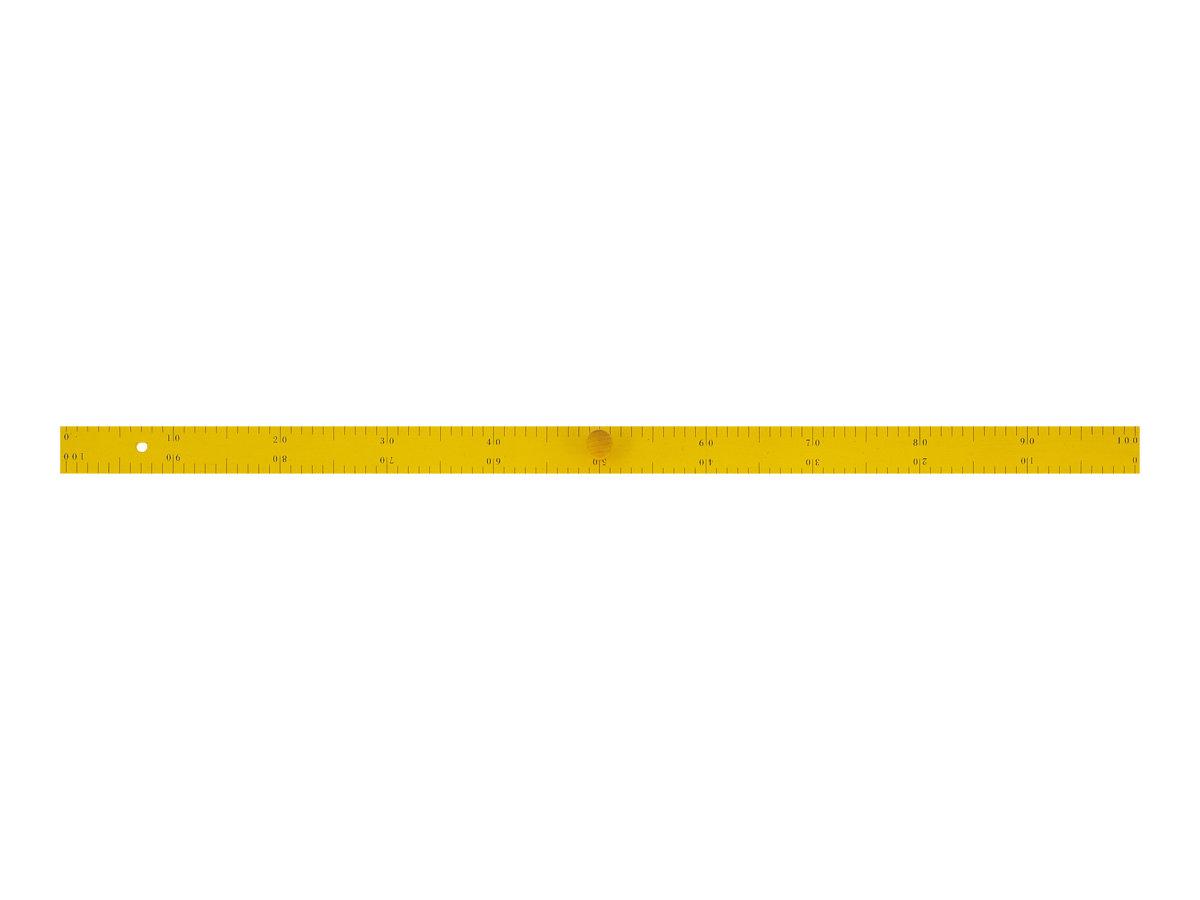 JPC - Règle - 100 cm - jaune - bois - pour instituteur