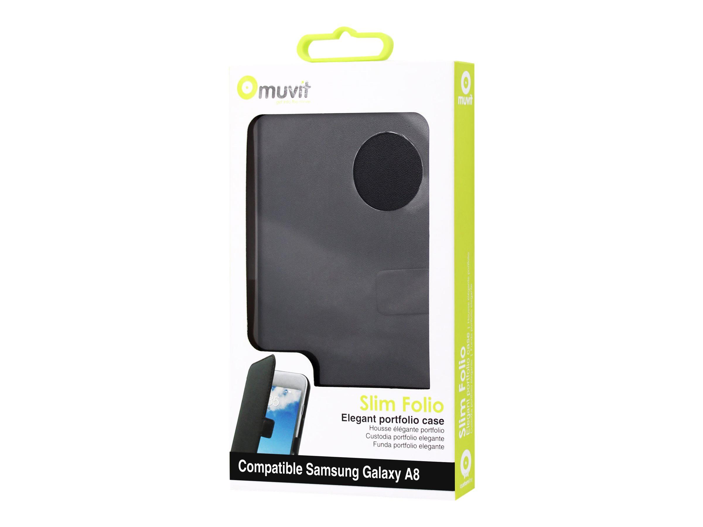 Muvit Slim S Folio Case protection à rabat pour téléphone portable