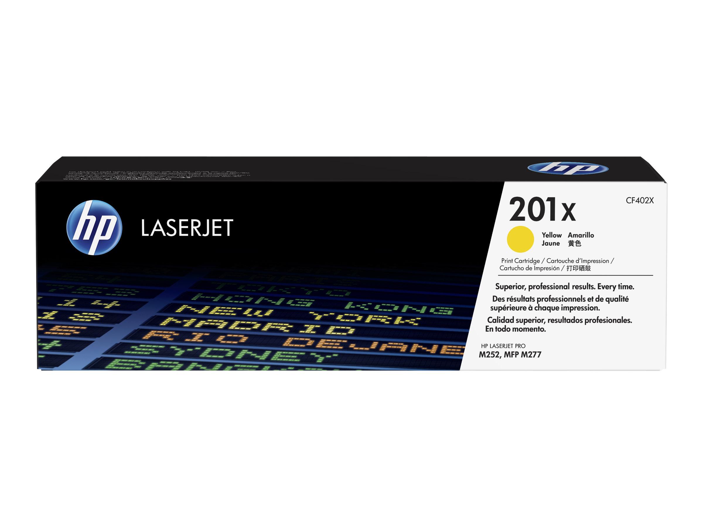 HP 201X - à rendement élevé - jaune - originale - LaserJet - cartouche de toner (CF402X)