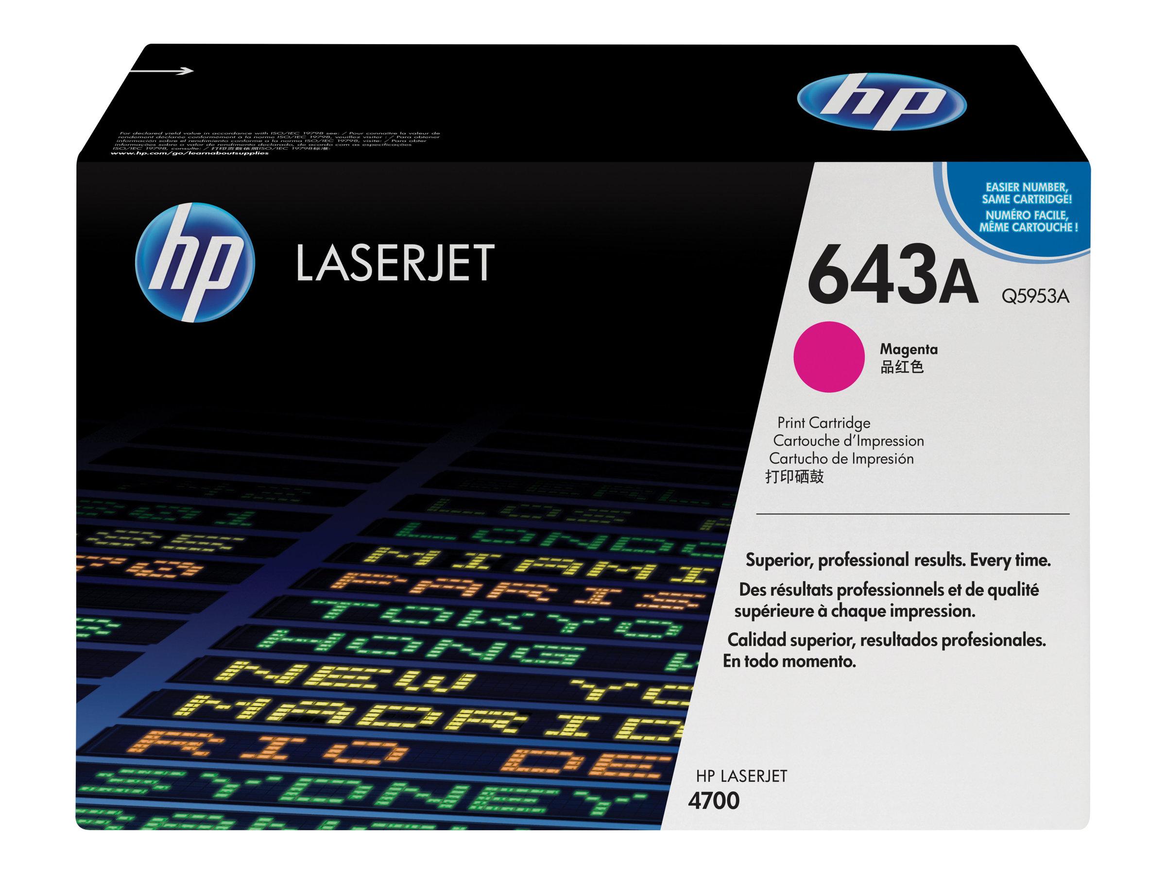 HP 643A - magenta - originale - LaserJet - cartouche de toner (Q5953A)