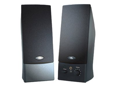 Cyber Acoustics CA-2016 Speakers - for PC - 4 Watt (total) - black (grille color - black) - Speakers - for PC - 4 Watt (total) - black (grille color - black)