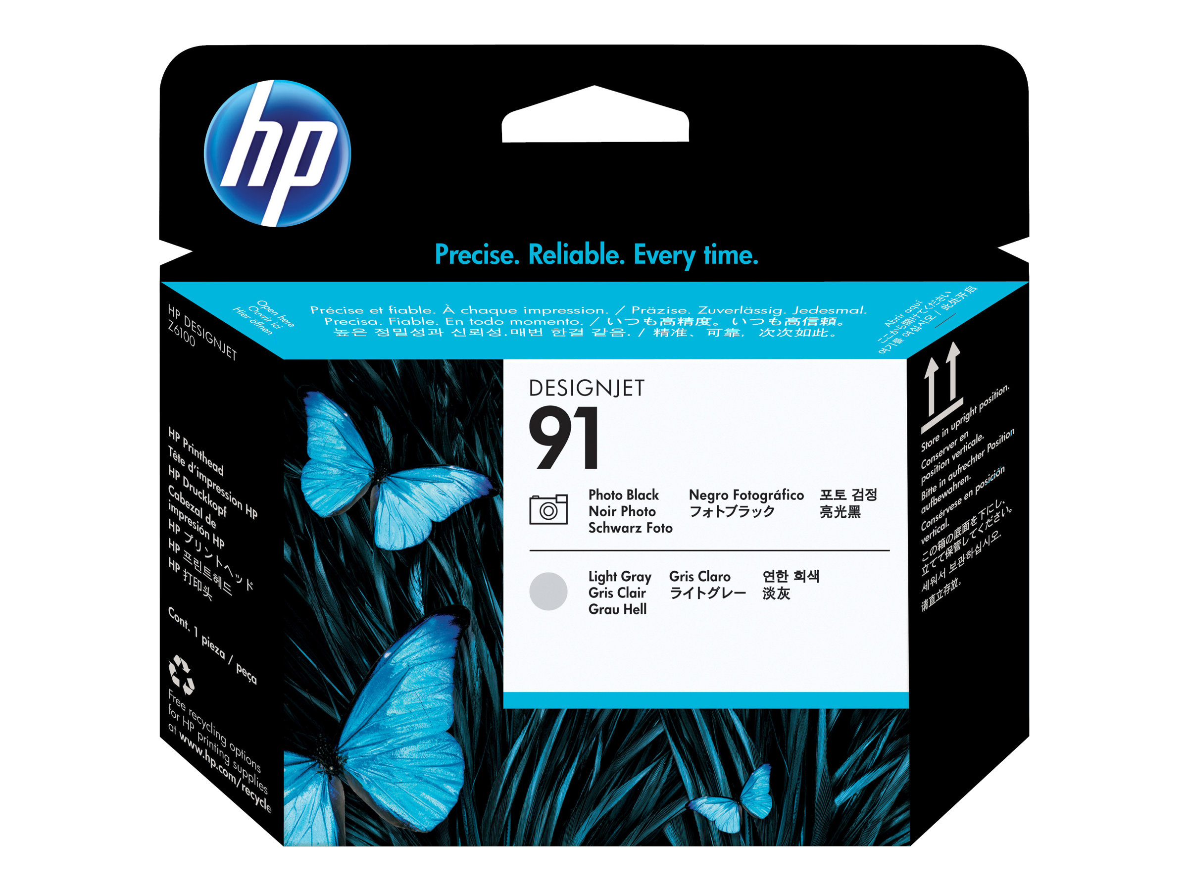 HP 91 - gris clair, photo noire - tête d'impression
