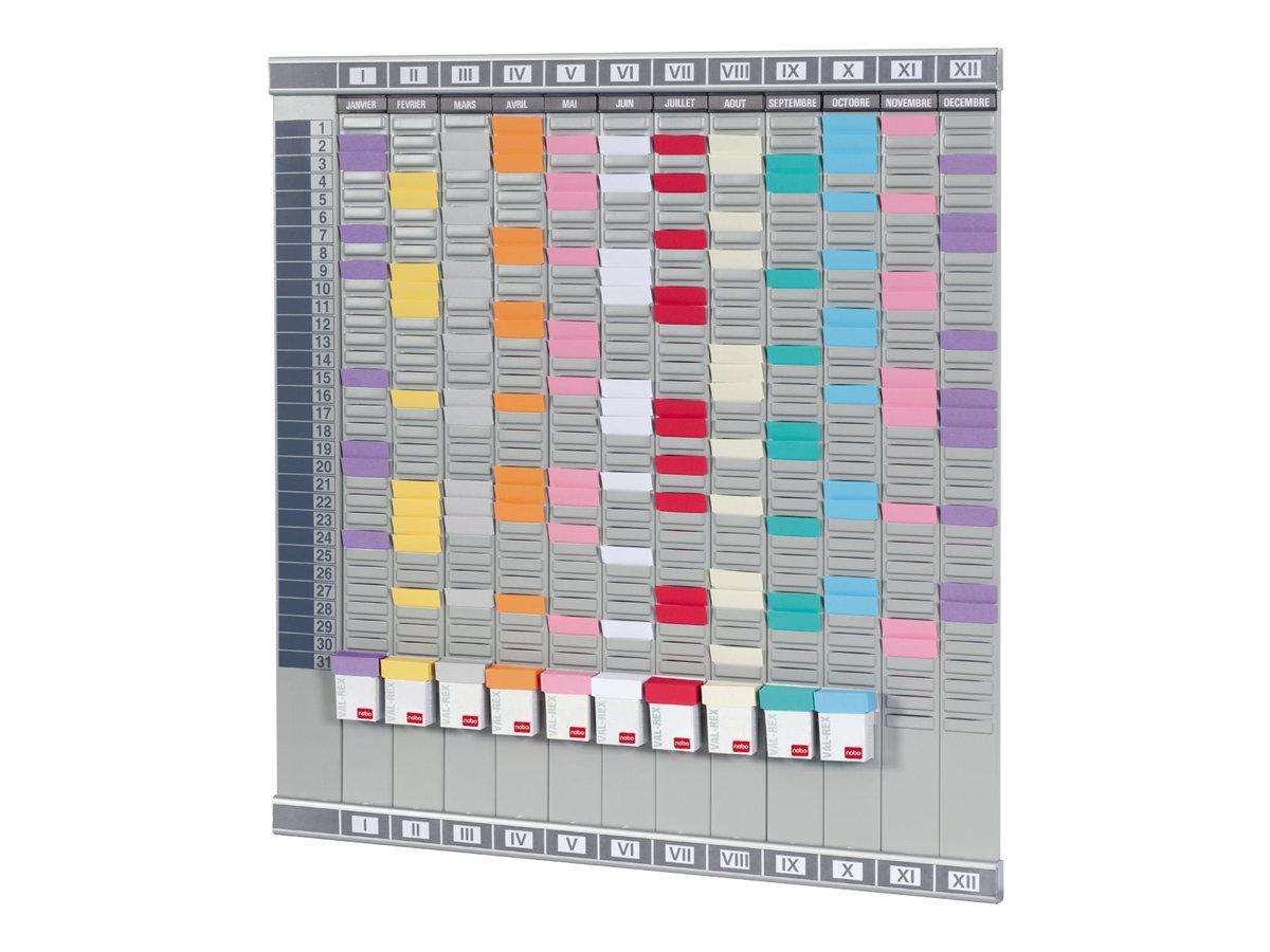 Nobo planning cartes 645 x 660 mm tableaux planning for Bureau tableau 2 en 1