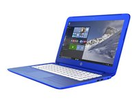 "HP Stream 13-c110nr - Celeron N3050 / 1.6 GHz - Win 10 Home 64-bit - 2 GB RAM - 32 GB eMMC - 13.3"" 1366 x 768 (HD) - HD Graphics - HP gradient with linear carbon finish in cobalt blue - kbd: US"