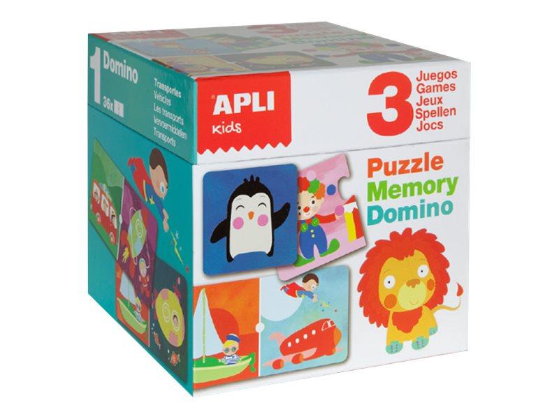 APLI kids - Cube. Puzzle, Domino & Memory