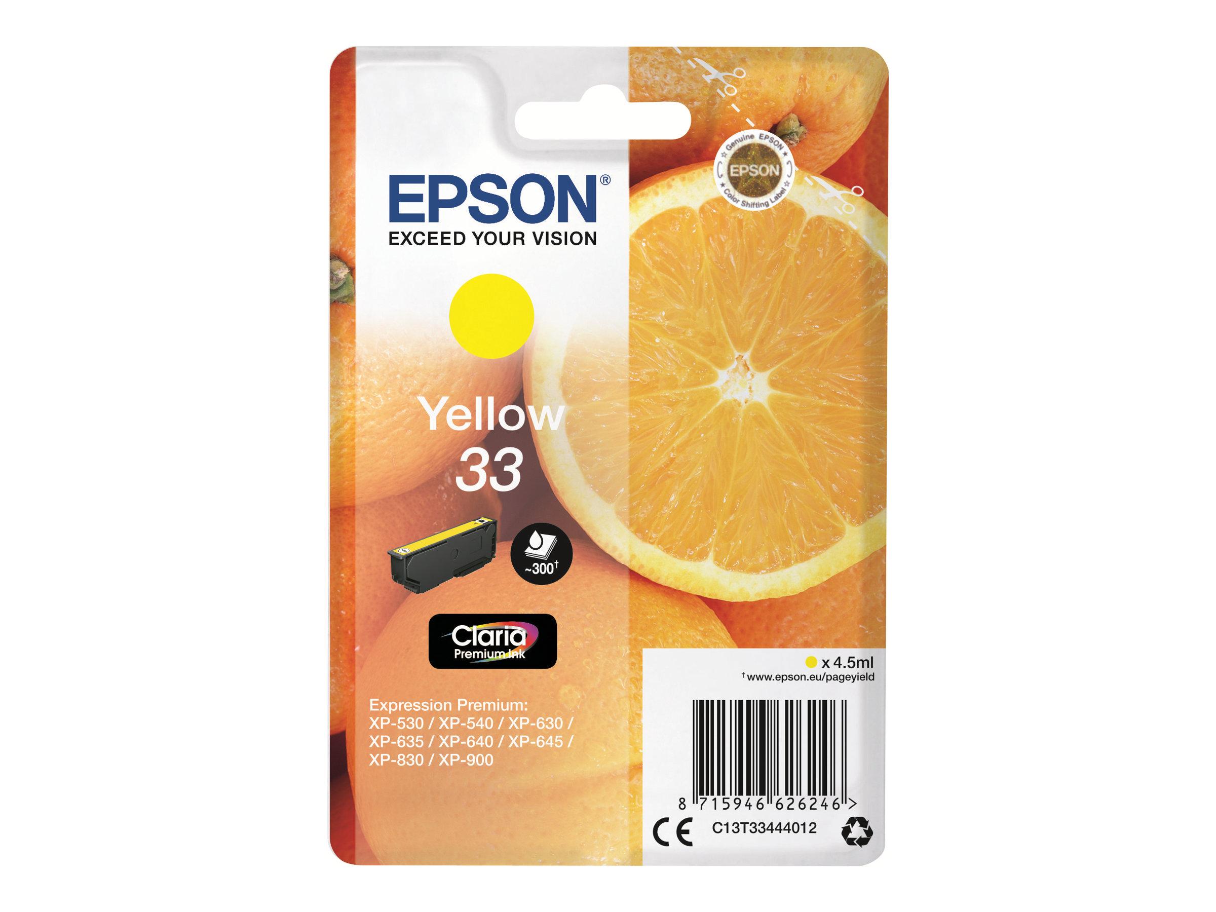 Epson T33 Orange - jaune - originale - cartouche d'encre
