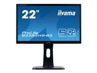 iiyama ProLite B2283HS-B3 22 Inch Full HD, Black, HDMI, Display Port, Height Adjustable