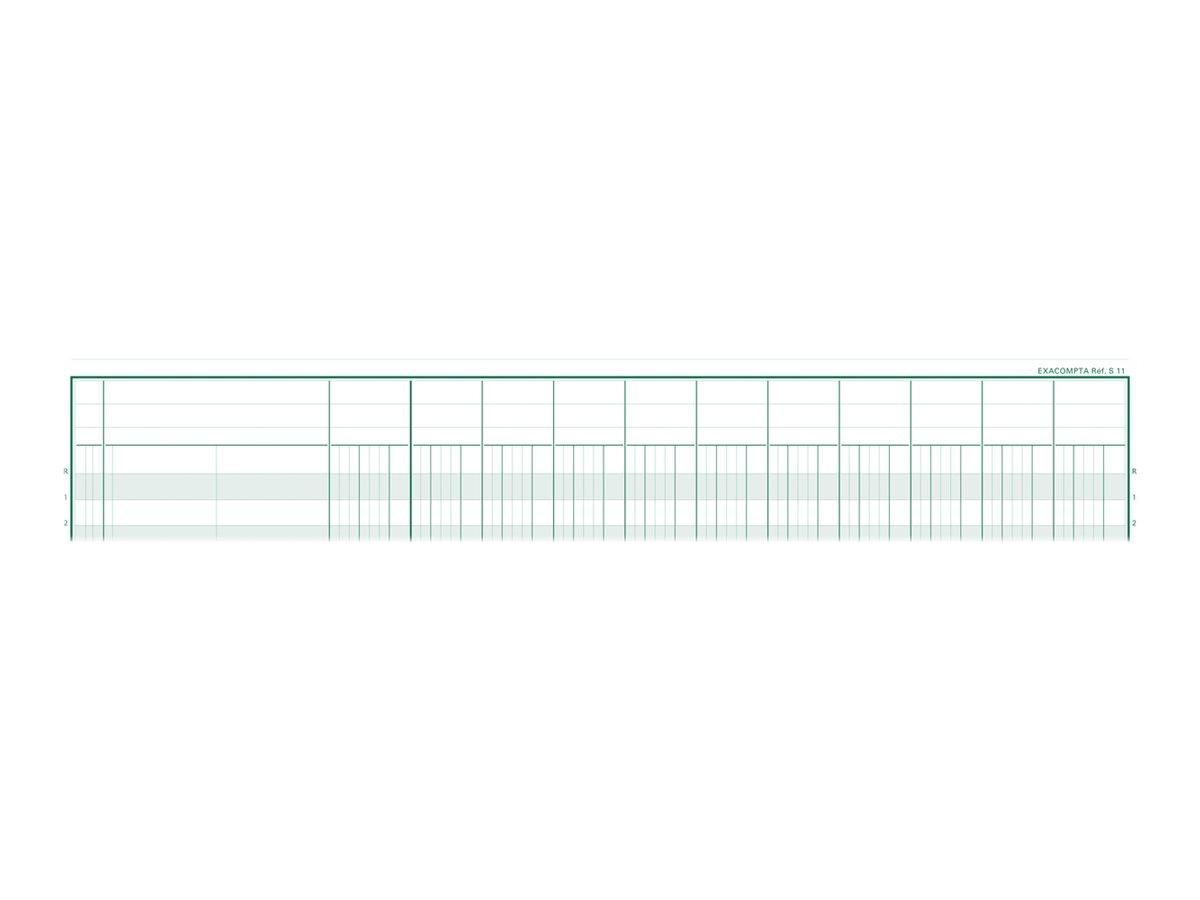 Exacompta - Registre - 80 pages - 11 colonnes - 250 x 320 mm - paysage