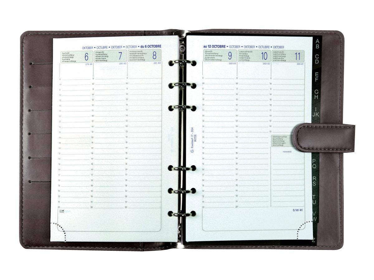 exacompta exatime 17 light kelly organiseur. Black Bedroom Furniture Sets. Home Design Ideas