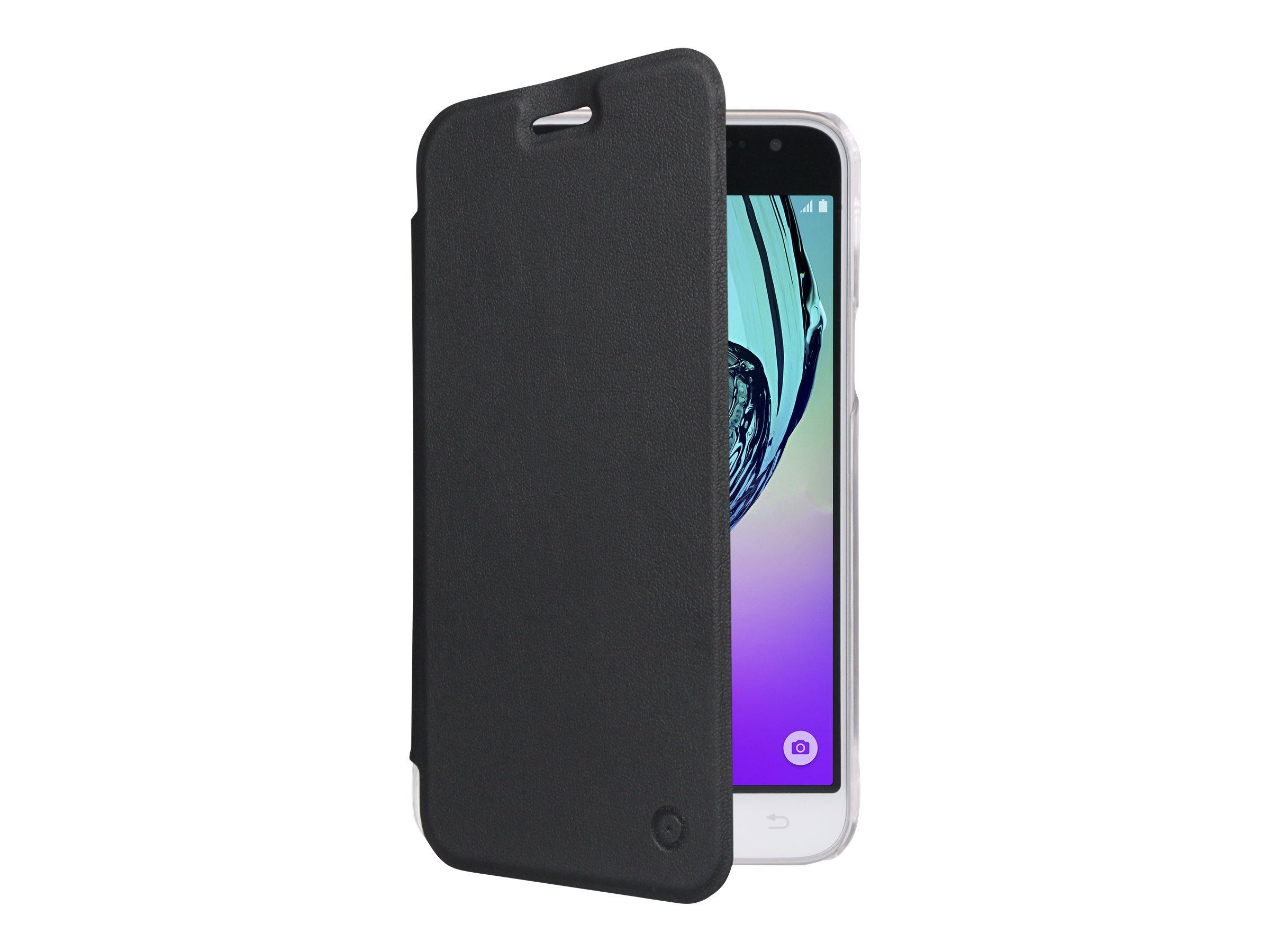 Muvit Folio - Protection à rabat pour Samsung Galaxy J3 - noir