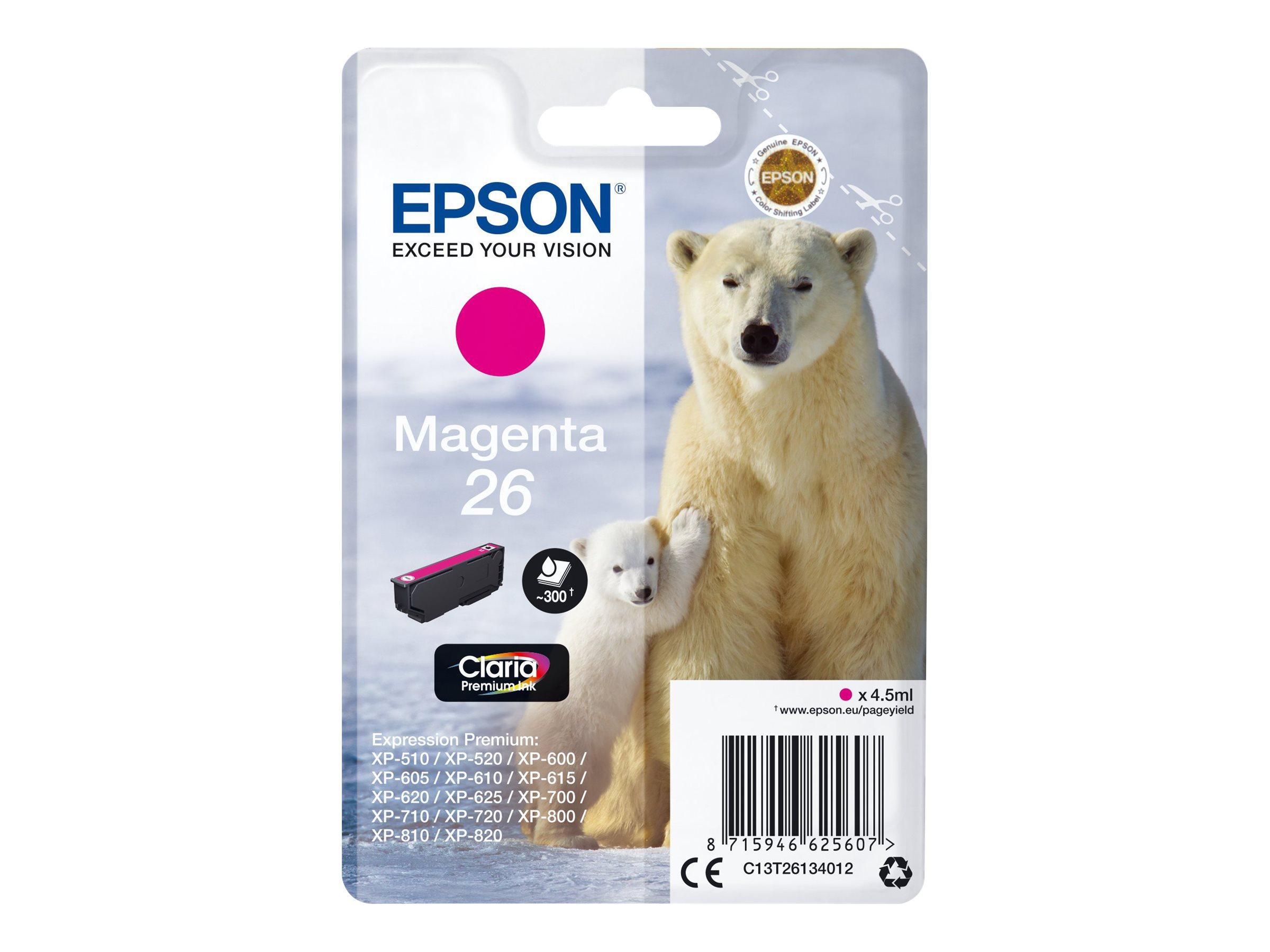 Epson T26 - ours - magenta - originale - cartouche d'encre