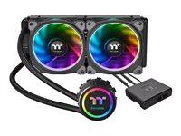 Thermaltake Floe Riing RGB 240 TT Premium Edition - Bloque de agua del sistema de refrigeración líquido de la CPU - (para: LGA1156, AM2, AM2+, LGA1366, AM3, LGA1155, AM3+, LGA2011, FM1, FM2, LGA1150, LGA2011-3, LGA1151, AM4, LGA2066)