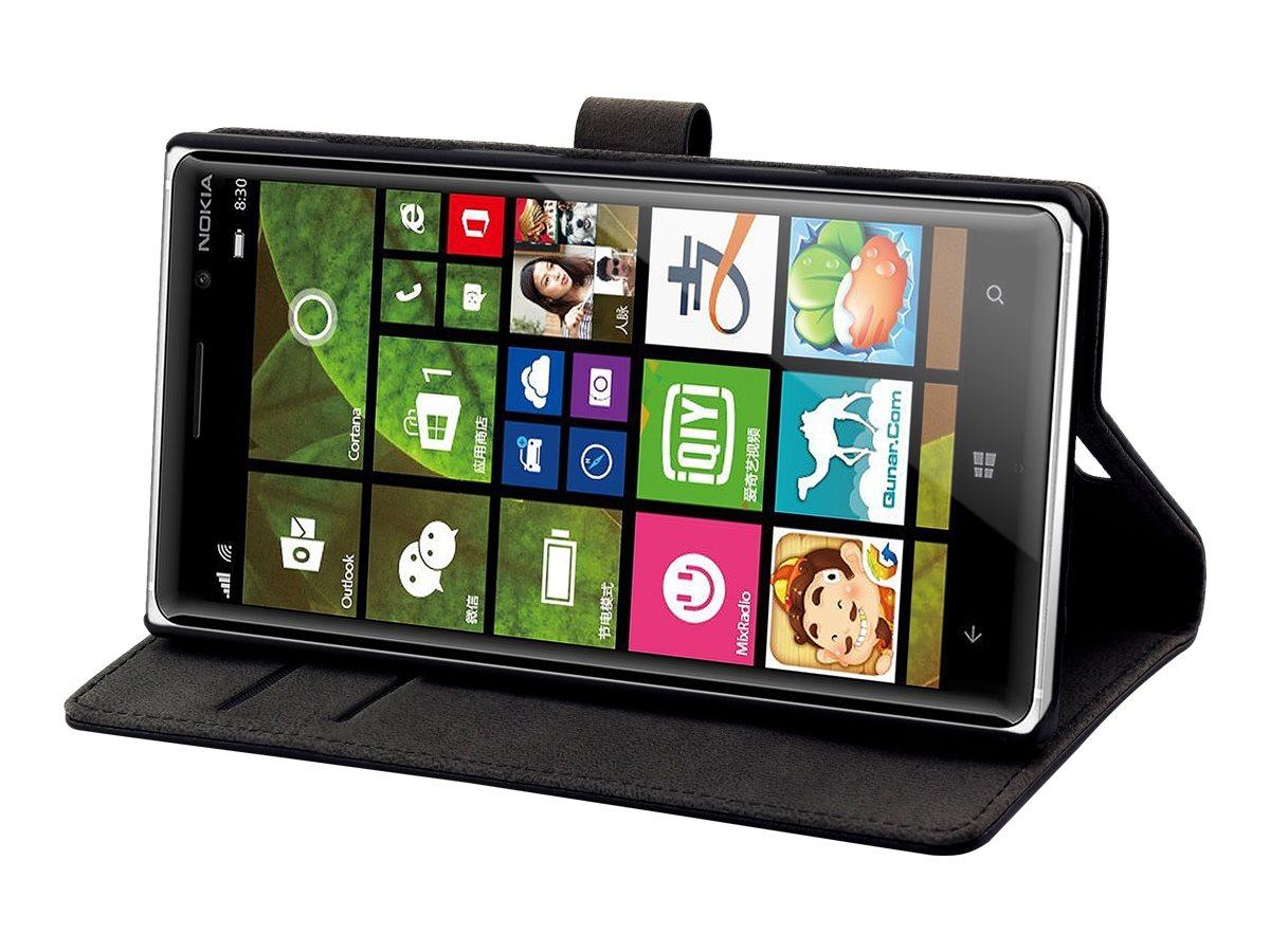 Muvit Slim S Folio - Protection à rabat pour Nokia Lumia 830 - noir