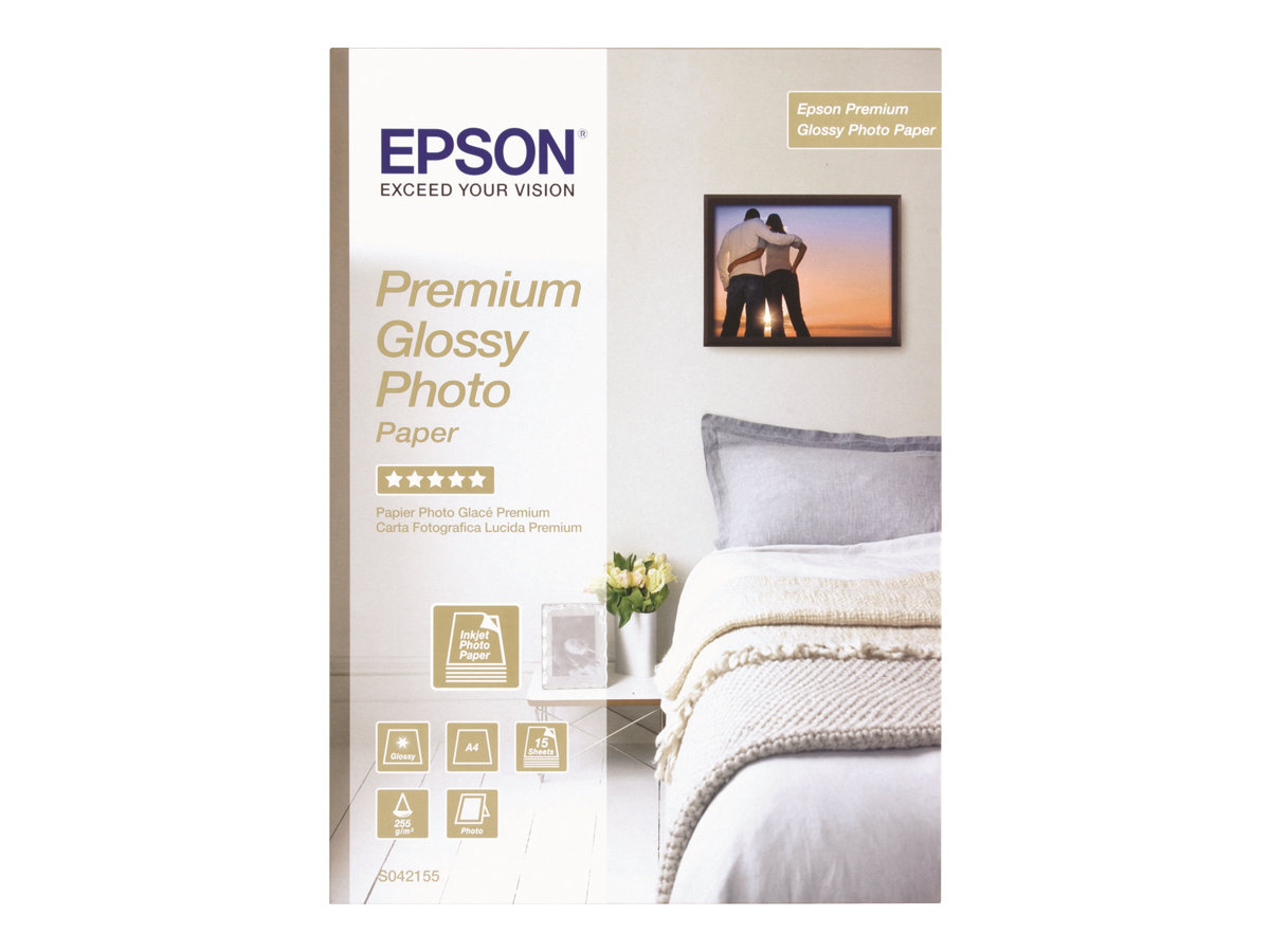 epson premium glossy photo paper papier photo 15 feuille s papiers photo. Black Bedroom Furniture Sets. Home Design Ideas