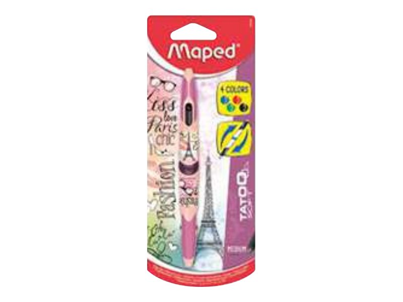 Maped Twin Tip 4 Classic Stylo Bille 4 Couleurs 224 2