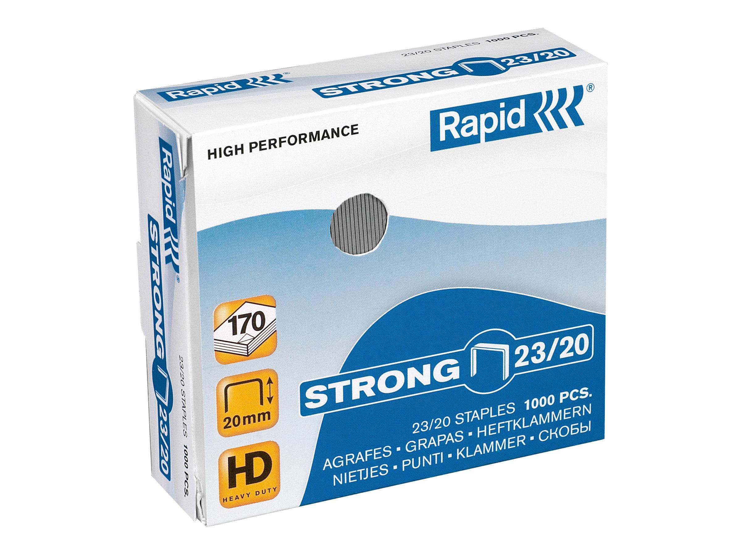 Rapid Strong - 1000 Agrafes - 23/20 - acier galvanisé