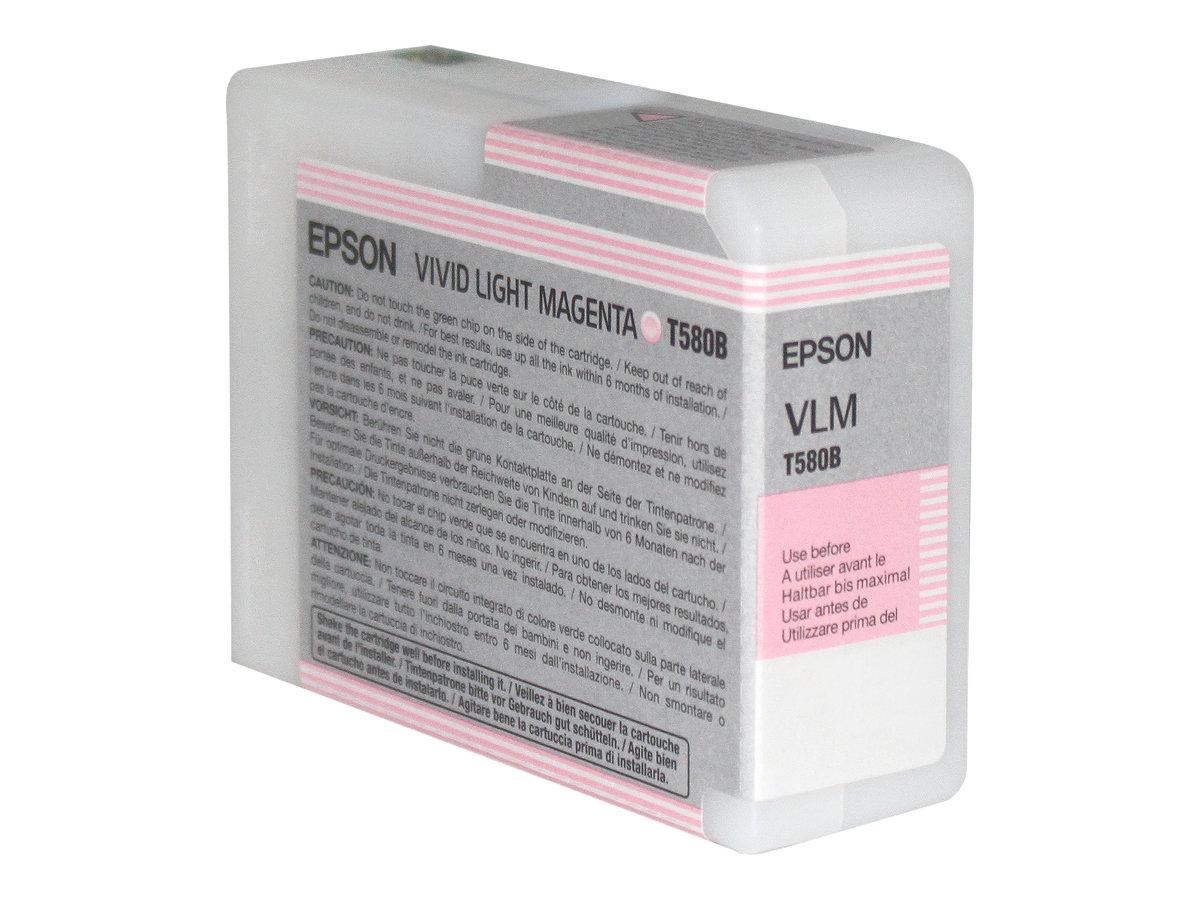Epson - T580B - 80 ml - Magenta vif clair - originale - cartouche d'encre