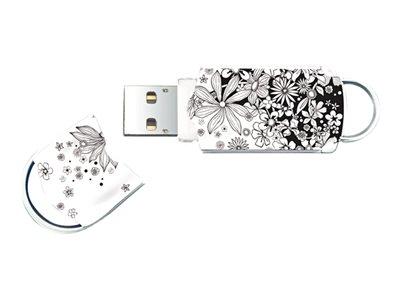 Integral Xpression Pattern Flowers - Jednotka USB flash - 64 GB - USB 2.0