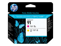 HP 91 - jaune, magenta - tête d'impression