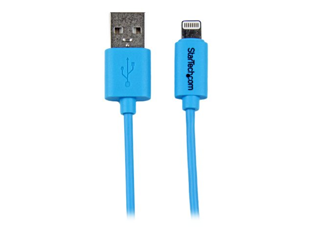 Image of StarTech.com 1m Blue Apple 8-pin Lightning to USB Cable for iPhone iPad - iPad / iPhone / iPod charging / data cable - Lightning / USB - 1 m