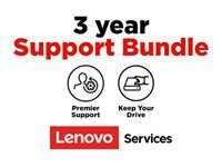 Lenovo Onsite + Keep Your Drive + Premier Support - Extended service agreement - parts and labor - 3 years - on-site - response time: NBD - for (1-year pick-up & return): ThinkBook 13s G2 ITL; 14 G2 ARE; 14 G2 ITL; 15; 15 G2 ARE; 15 G2 ITL; ThinkPad C13 Yoga G1; E14 Gen 2; E15 Gen 2; L14 Gen 1; L15 Gen 1; P1 (3rd Gen); P14s Gen 1; P15 Gen 1; P15s Gen 1; P15v Gen 1; P17 Gen 1; T14s Gen 1; T15g Gen 1; T15p Gen 1; X1 Carbon Gen 8