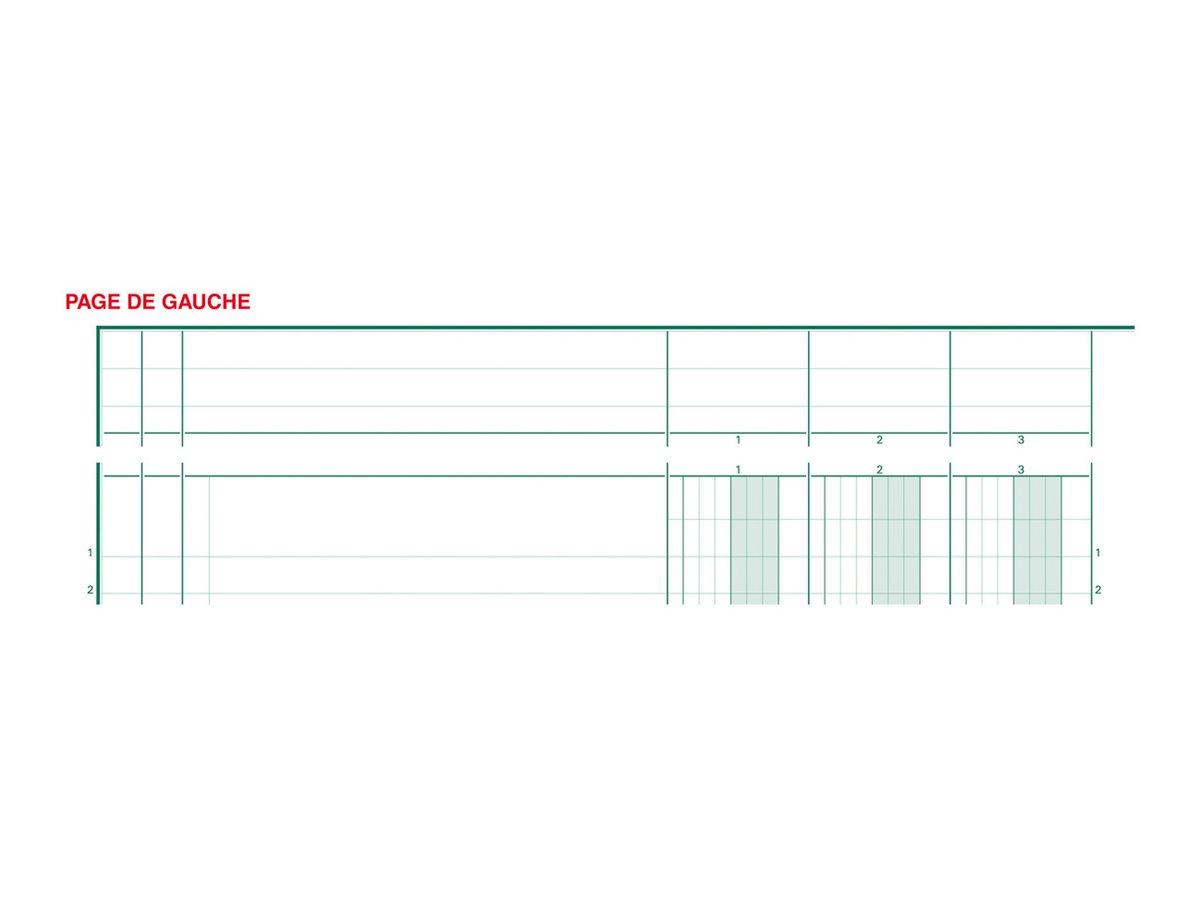 Exacompta - Piqûre comptable à tête paresseuse - 10 colonnes - A4 - portrait